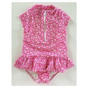 12M #RalphLauren pink/white floral swimsuit